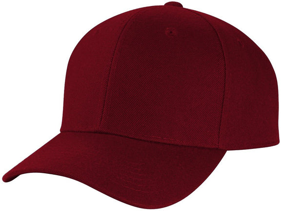 Y4364- 6 Panel Structured 100% Polyester Fitted Baseball Cap (BUR)