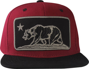 N21CRE76-2T- 2 Tone Structured Cotton Embroidered Bear Logo Designed Snapback
