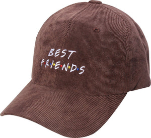 D12BFF01-BEST FRIENDS Dad Hat - USWHOLESALECAP - WHOLESALE CAPS AND HATS AT A VERY LOW PRICE!