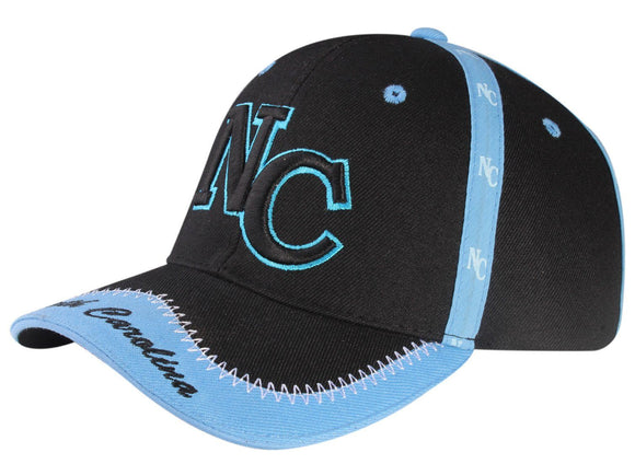 C03INC13- North Carolina Seam Tape Printed Polyester Baseball Cap