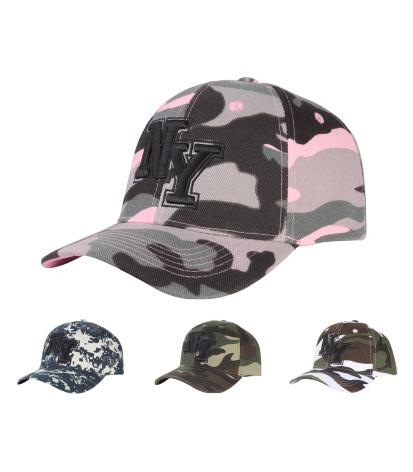 C03INY02- Camouflage New York Short Name Polyester Baseball Cap