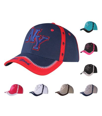 C03INY13- New York Seam Tape Printed Polyester Baseball Cap
