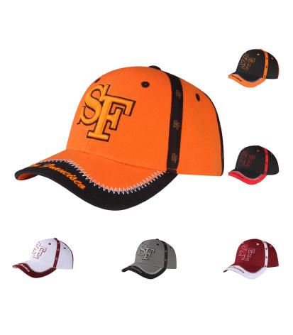 C03ISF13- San Francisco Seam Tape Printed Polyester Sandwich Bill Baseball Cap
