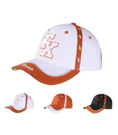 C03ITX13- Texas Full Name With Dallas Embroided Brim Polyester BaseBall Cap