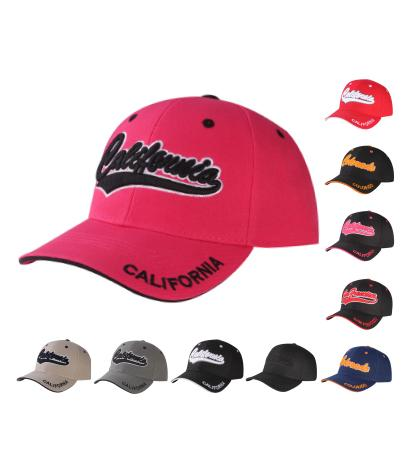 C04CAL01- California Full Name Polyester Sandwich Bill Baseball Cap