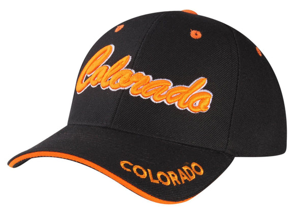 C04COR01 - Colorado Full Name Polyester Sandwich Bill Baseball Cap