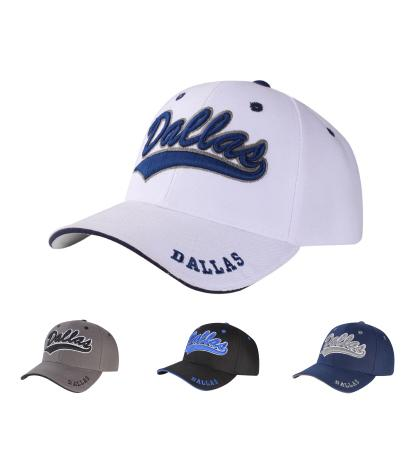 C04DAL01- Dallas Full Name Polyester Sandwich Bill Baseball Cap