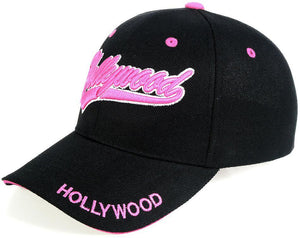 C04HOW01 - Hollywood Full Name Polyester Sandwich Bill City Baseball Cap