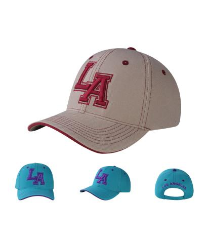 C04ILA02- Los Angeles Short Name Polyester Sandwich Bill Baseball Cap