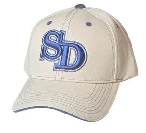 C04ISD02- San Diego Short Name Polyester Sandwich Bill Baseball Cap