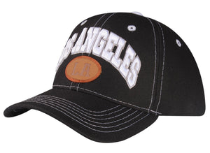 "C06LOS01-Los Angeles ""LA"" Embroidered Logo Patch Polyester Baseball Cap"