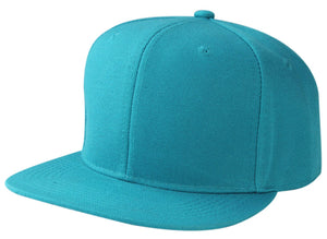 CNF4362 -6 Panel Structured Polyester Flat Bill Snapback Plain Cap
