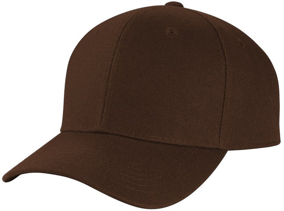 Y4364- 6 Panel Structured 100% Polyester Fitted Baseball Cap (DBR)