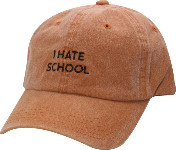 D12IHS01-I HATE SCHOOL DAD HAT - USWHOLESALECAP - WHOLESALE CAPS AND HATS AT A VERY LOW PRICE!