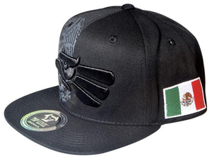 N21MEX04 -Structured Cotton Eagle Logo With Side Panel Mexico Flag Logo Designed Snapback