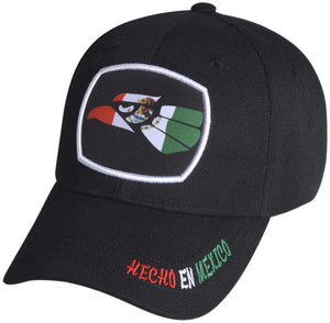 M03MEX03- Structured Polyester Eagle Logo With Embroidered Hencho En Mexico Baseball Cap