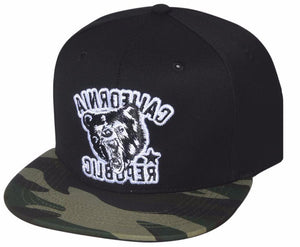 N21CRE30- Structured Cotton California Republic Angry Bear Logo Designed Snapback