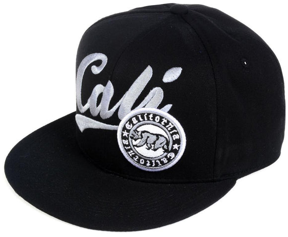 N21CAL01-2T- 2 Tone Structured Cotton Embroidered Cali Logo Designed Snapback