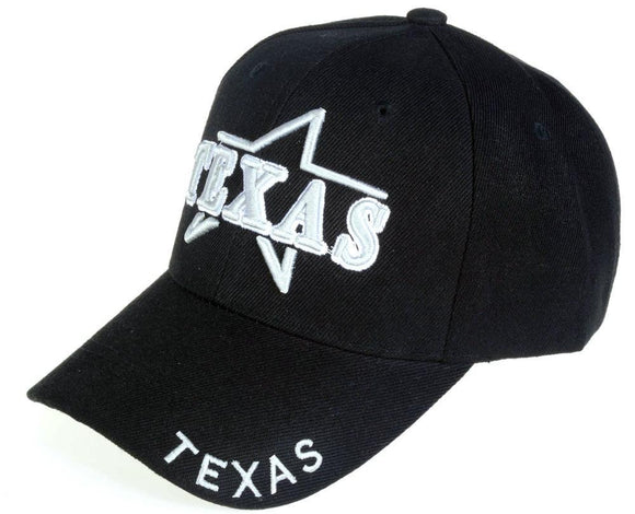 C03ITX03 - Texas Star Full Name Polyester Baseball Cap