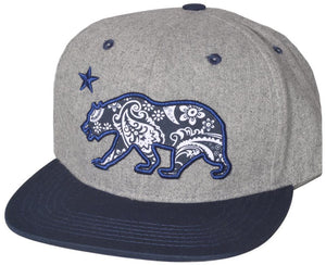 N21CRE29- Structured Cotton,Wool Tribal Bear Logo Designed Snapback