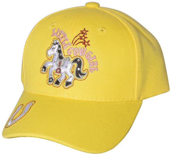 M54LCG01- Structured Polyester Little Princess Pony Junior Baseball Cap