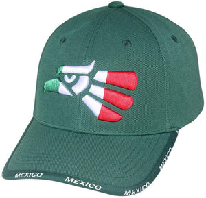 M11HEC02- Structured Polyester Mexican Eagle Baseball Cap