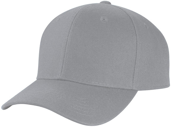 Y4364- 6 Panel Structured 100% Polyester Fitted Baseball Cap (LGY)