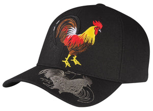 M03COC02- Fighting Cock Logo Embroidered Mexico Designed Baseball Cap 02
