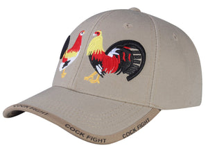 M03COC04- Face off Cock Fight Logo Embroidered Mexico Designed Baseball Cap