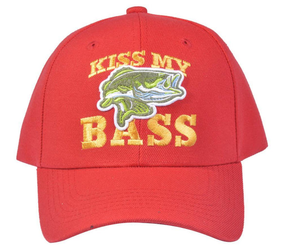 M03FIS01- Structured Polyester Kiss My Bass Baseball Cap