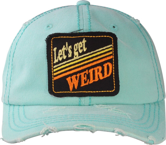 T13WRD02- Wholesale Washed Cap Lets Get Weird Style