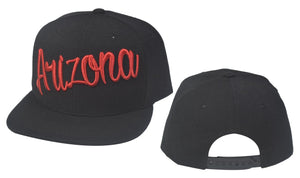 N21ARI27-Structured Cotton Arizona Full Name Logo Snapback