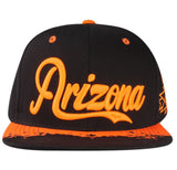 "N21ARI49- Structured Cotton Arizona Full Name With Side Panel Embroided ""A"" Logo Designed Snapback"