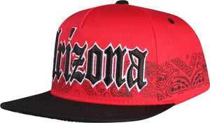 N21ARI50- 5 Panel Structured Cotton Medieval Text Arizona Full Name Logo Designed Snapback