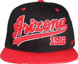 N21ARI54- Structured Cotton Arizona Full Name With Side Panel Star Logo Designed Snapback