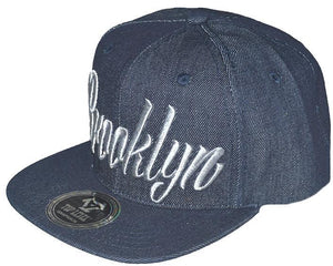 N21BRO17- Structured Cotton Embroidered Brooklyn Full Name Logo Designed Snapback