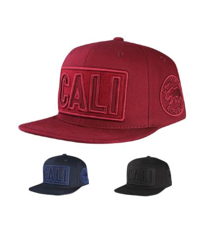 N21CA118- Structured Cotton Cali Short Name With Side Panel California Republic Logo Designed Snapback