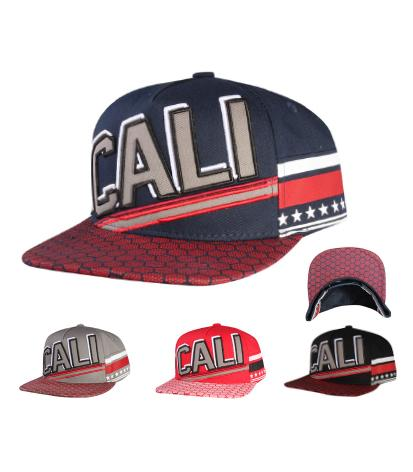 N21CA123-  5 Panel Structured Cotton Cali Short Name With Side Panel Strap Designed Snapback