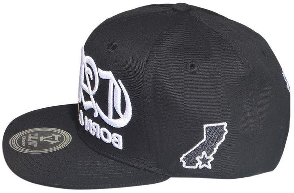 N21CAL40-2T- 2 Tone Structured Cotton Cali Born And Raised Logo Designed Snapback