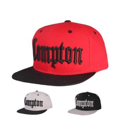 N21COM01-Structured Cotton Embroidered Compton Full Name Logo Designed Snapback