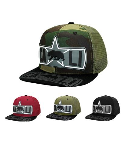 N21CR107- Structured Mesh Back CALI Logo Snapback