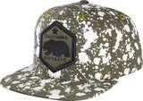 N21CRE83-6 Panel Structured Cotton Paint Splitter Cali Bear Snapback