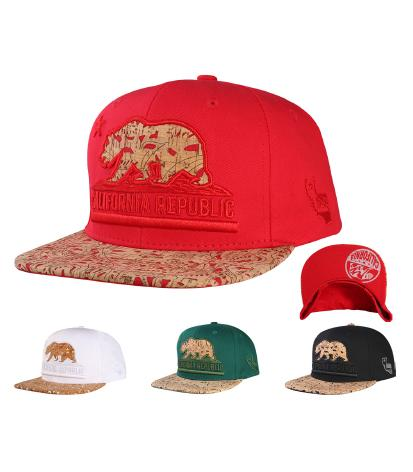 N21CRE87- Structured Aztec Cali Bear Logo Snapback