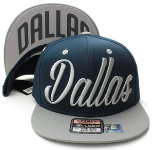 N21DAL09-Structured Dallas Logo with Back Brim Designed Snapback