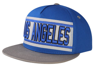 N21LOS35- 5 Panel Structured Cotton Embroidered Los Angeles Full Name Logo Designed Snapback