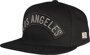 N21LOS53- 2 Tone 5 Panel Structured Cotton Los Angeles Full Name Logo Designed Snapback