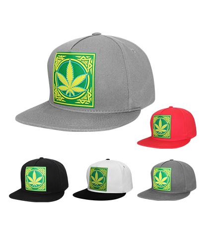 N21MAR18- Structured Plain Marijuana Logo Snapback