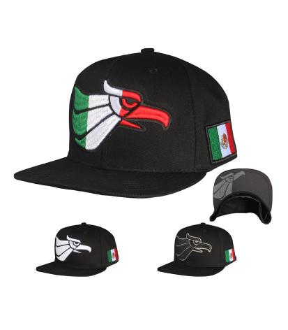 N21MEX14-Structured Cotton Embroided Hecho En Mexico Eagle Logo Designed Snapback