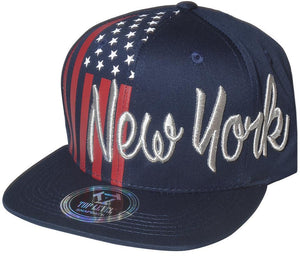 N21NEW33- Structured Cotton New York US Flag Logo Designed Snapback