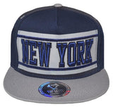 N21NEW35-2T- 2 Tone 5 Panel Structured Cotton Embroidered New York Full Name Logo Designed Snapback
